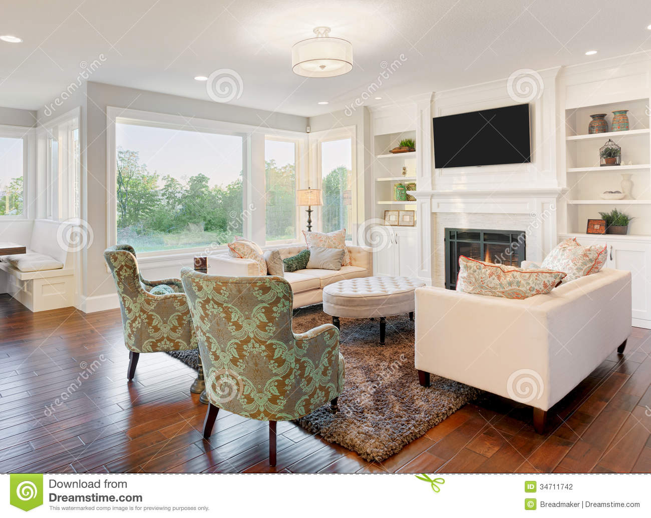 Luxurious Living Room Stock Photography - Image: 34711742