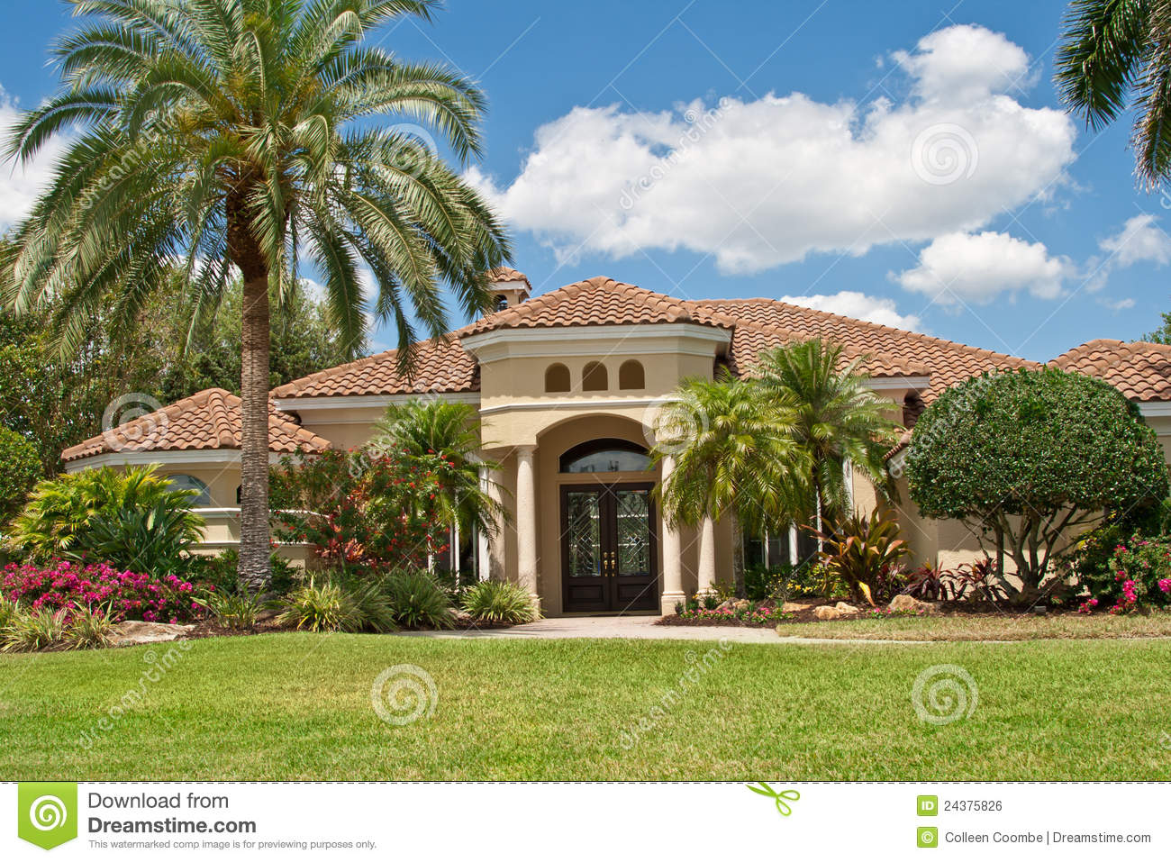 Luxurious Mansion In Tropics Stock Photo Image Of