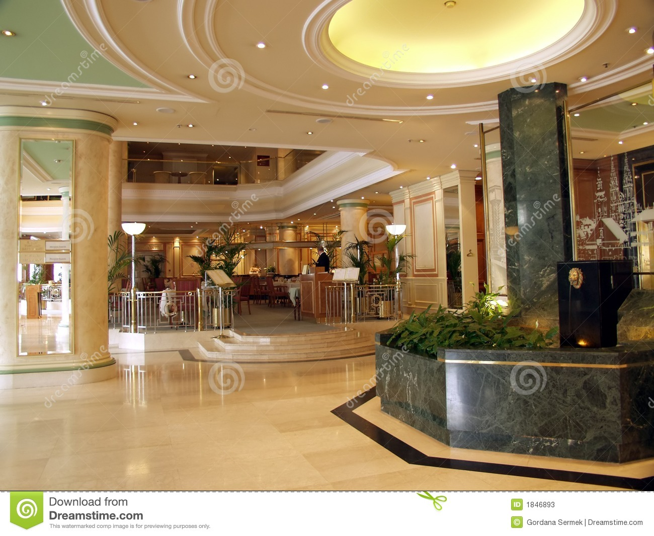 Luxurious Marble Hotel Lobby Stock Photos Image 1846893