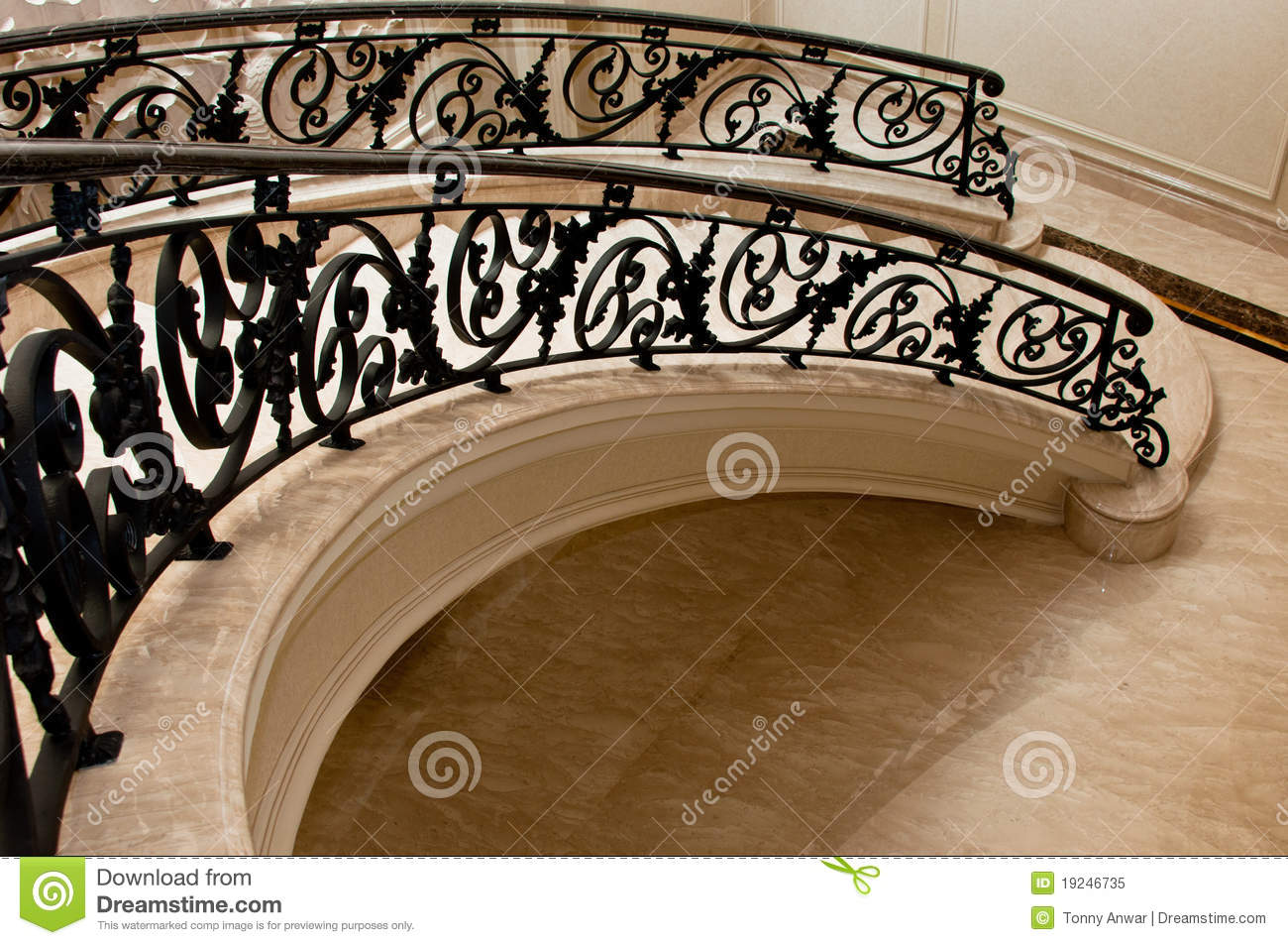 Luxurious Marble Stairway Royalty Free Stock Photo Image