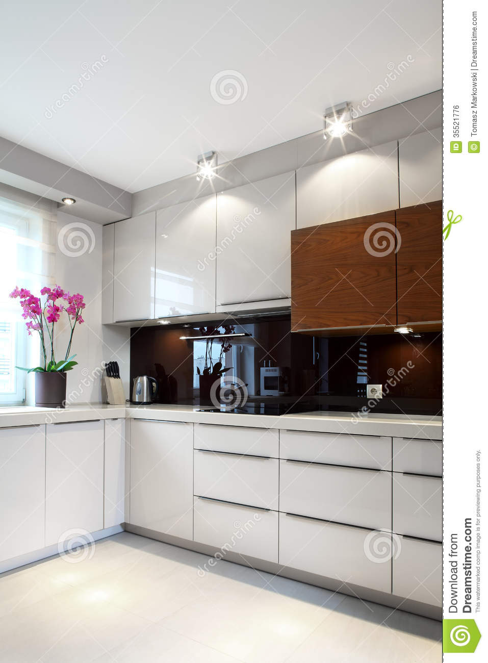luxurious modern kitchen royalty free stock image image