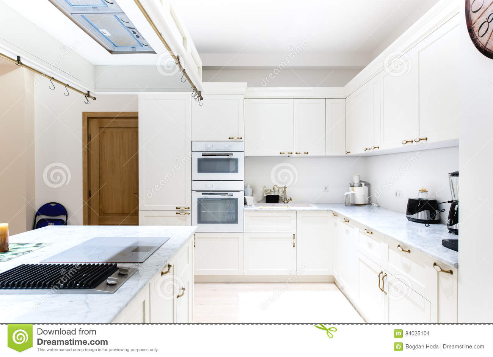 Luxurious Modern Kitchen White Cabinets Of Wooden Furniture