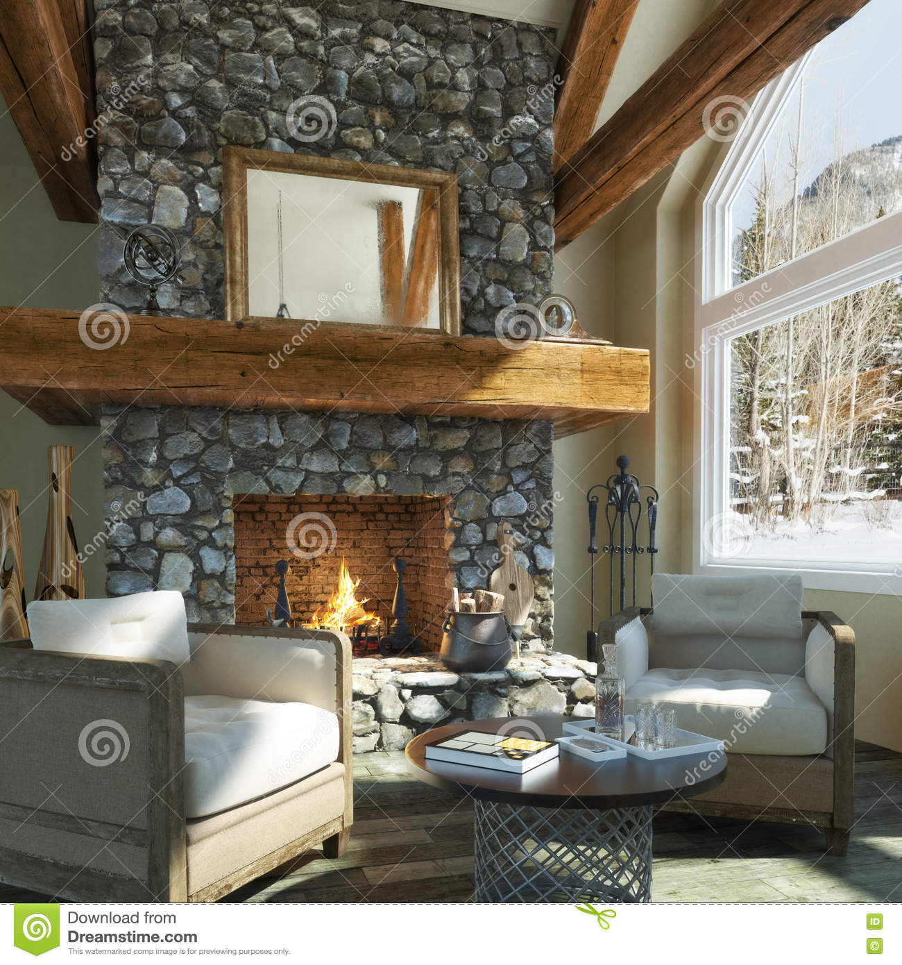 Cabin interior design Modern cabin interior design
