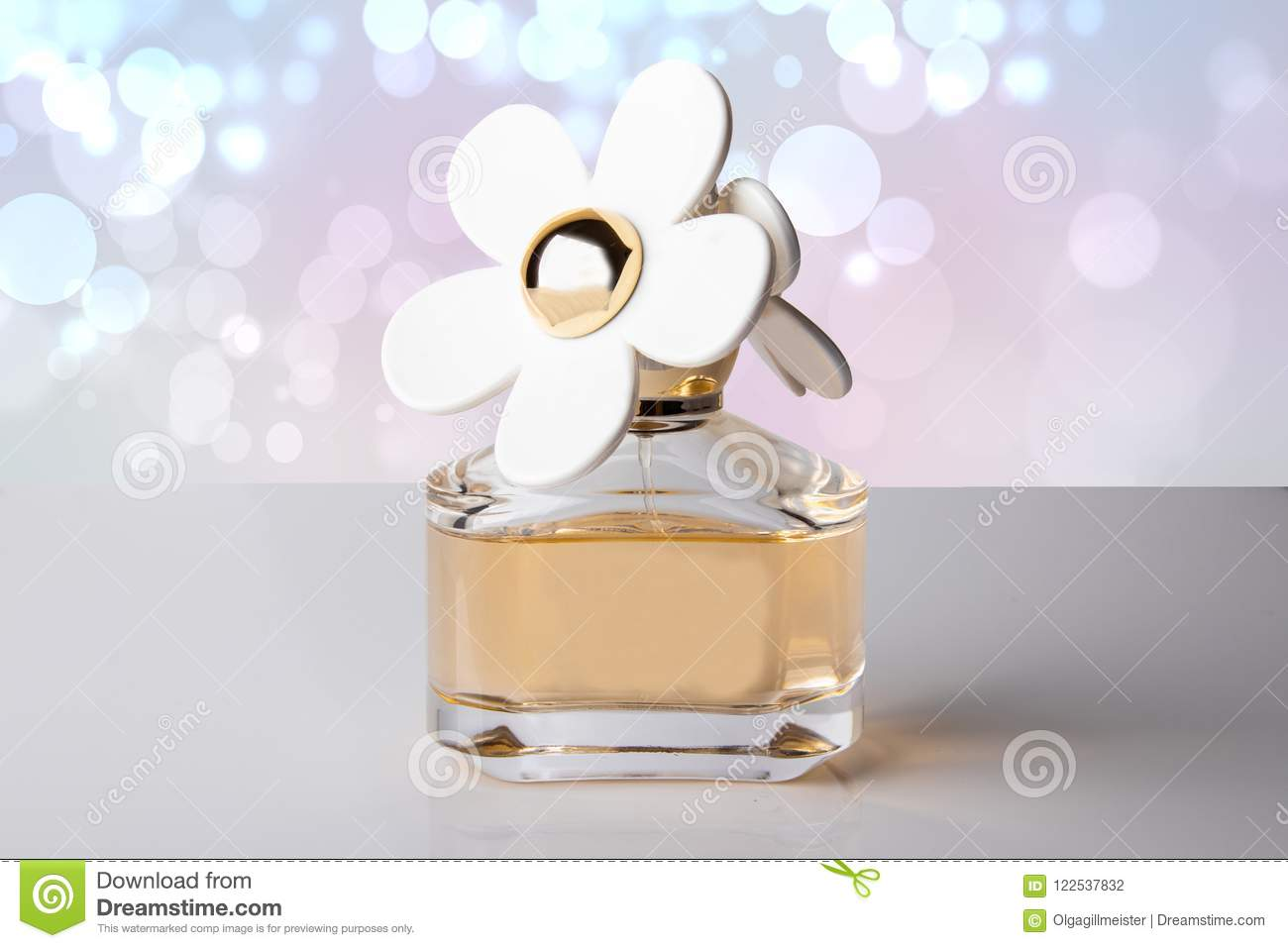 Luxurious Perfume In Beautiful Bottle With White Flowers As Perf
