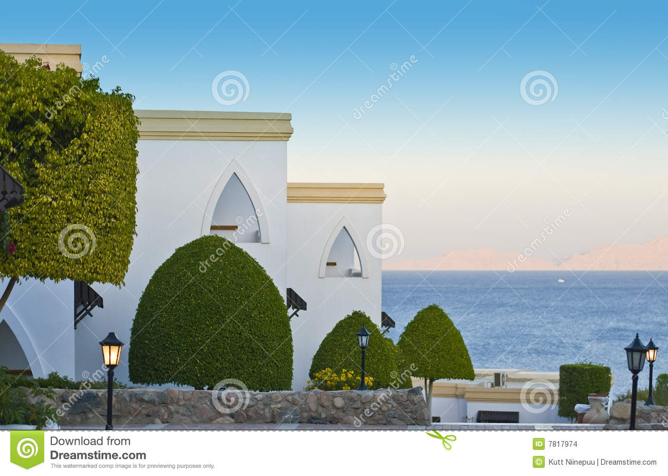 Luxurious resort hotel by sea
