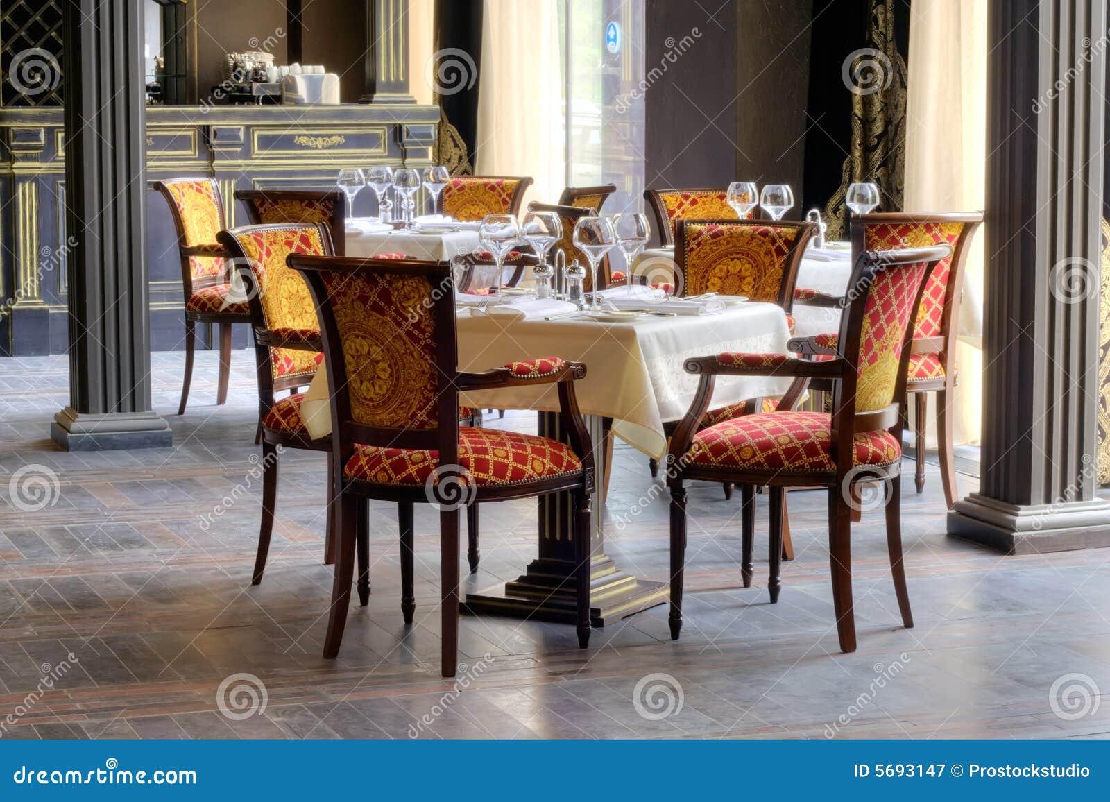 Luxurious restaurant interior royalty free stock