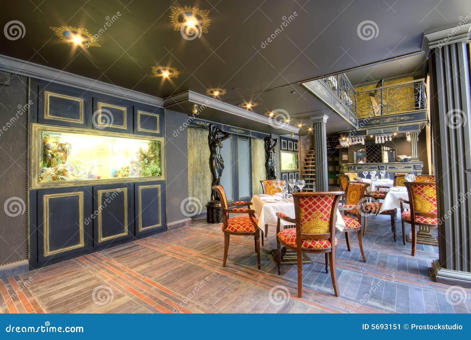 Restaurant Interior Supplies : Luxurious restaurant interior stock image