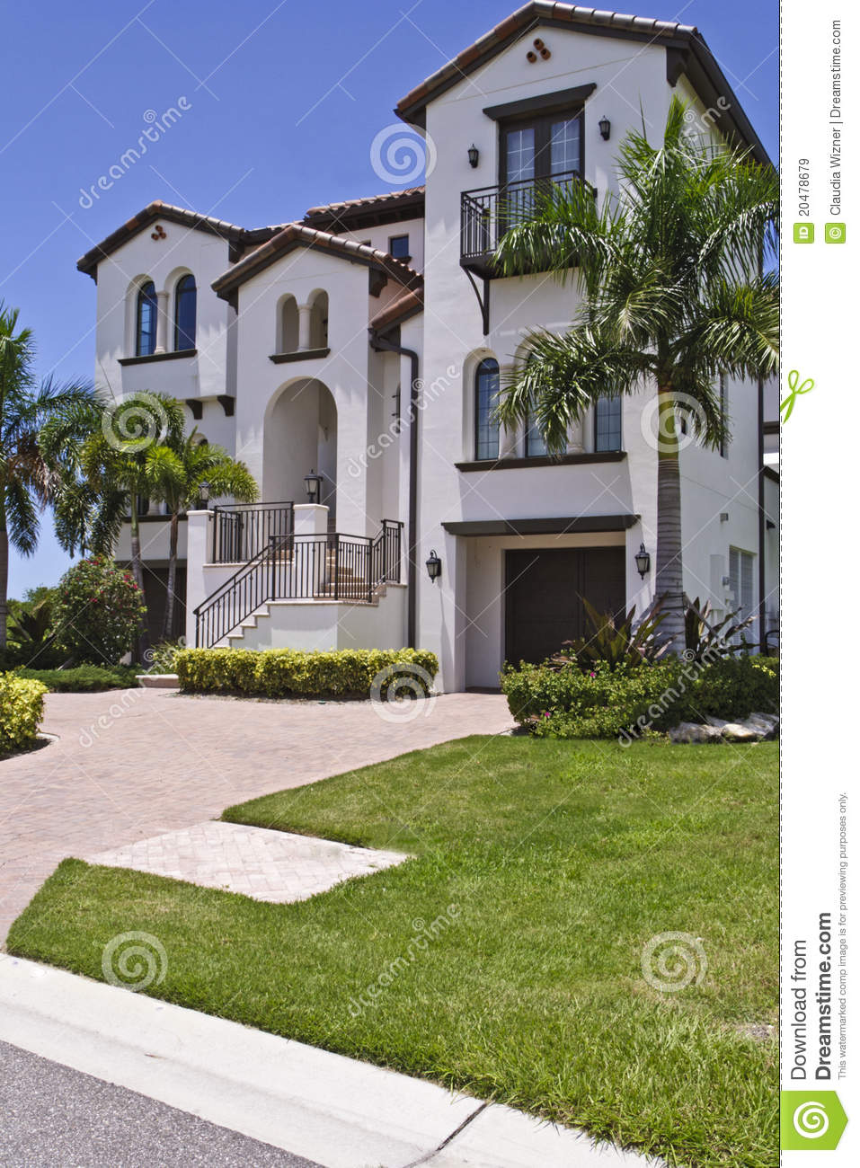 Luxurious spanish style home stock image image of for Spanish style homes for sale near me