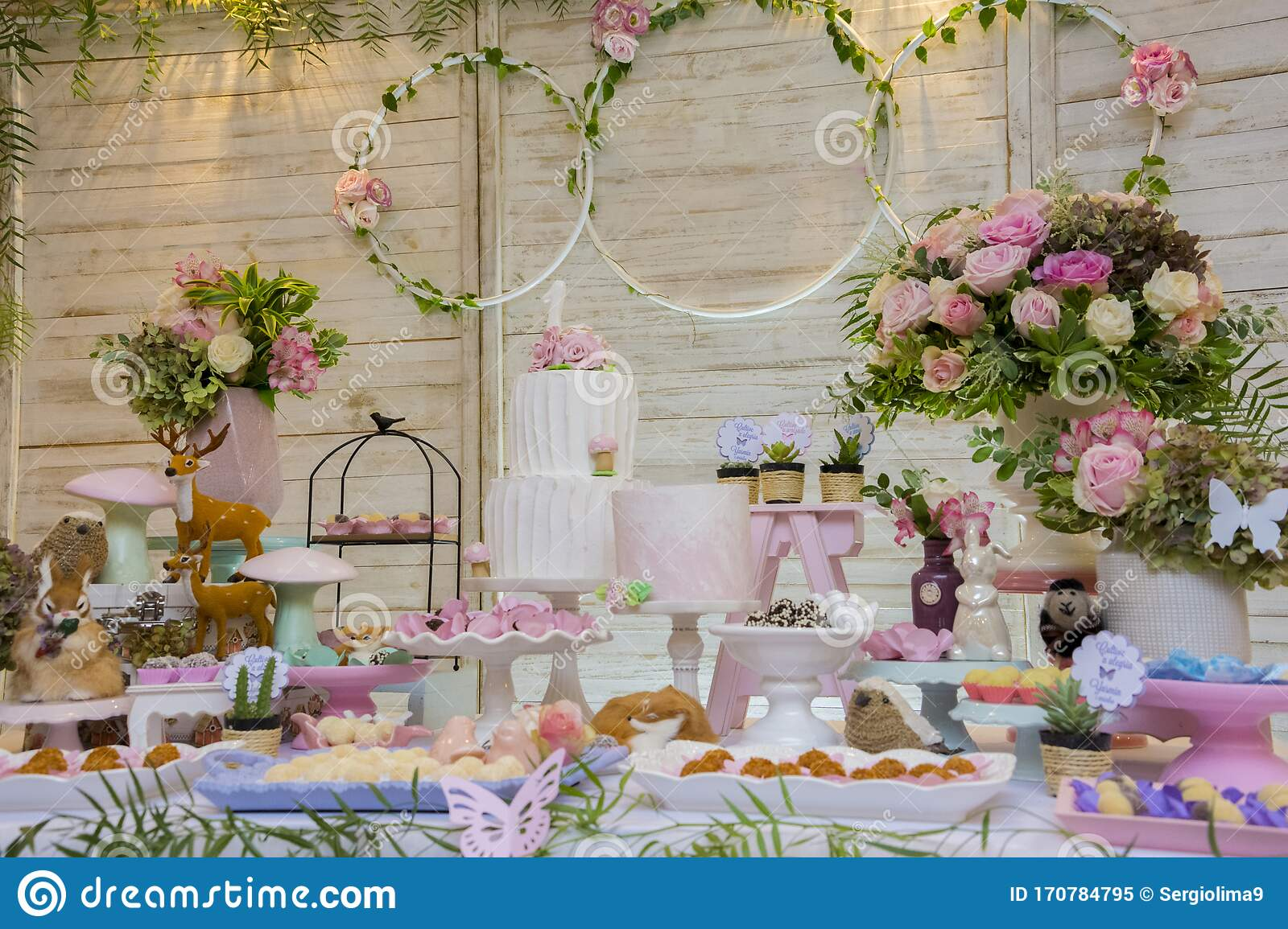Strange Luxurious Table Of Sweets And Birthday Cake Stock Image Image Of Funny Birthday Cards Online Elaedamsfinfo