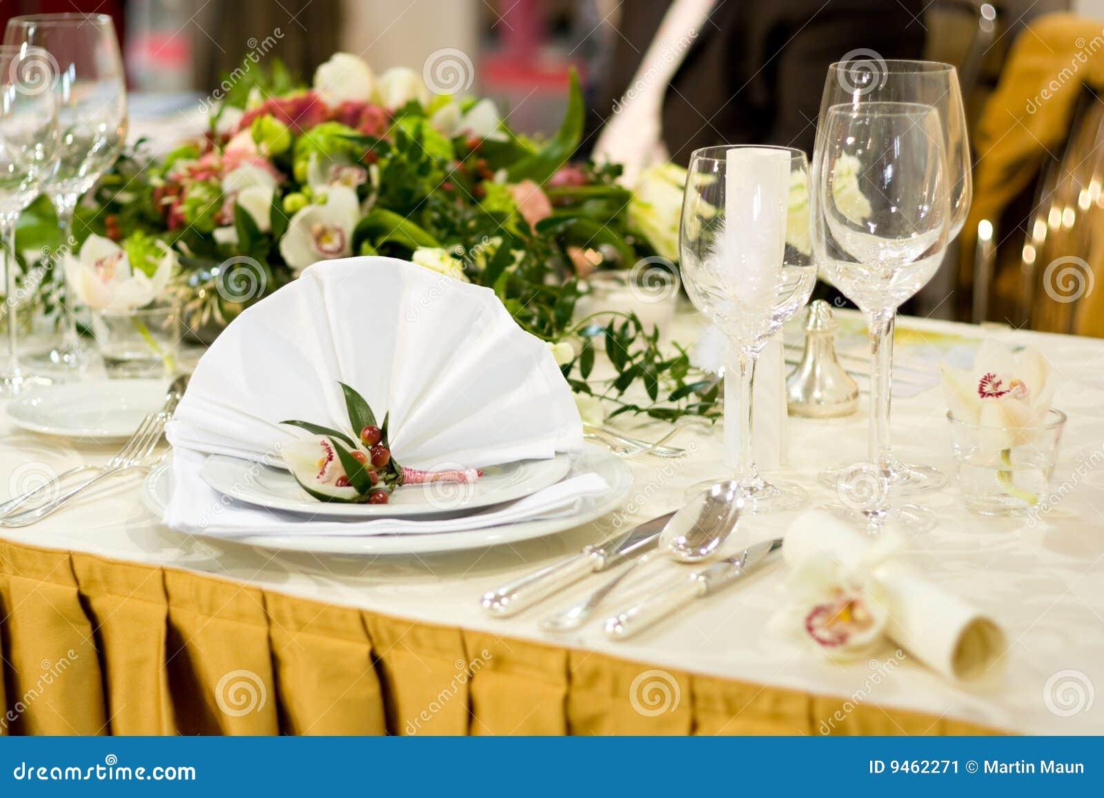 Luxurious Wedding Table Setting Stock Image - Image of setting ...
