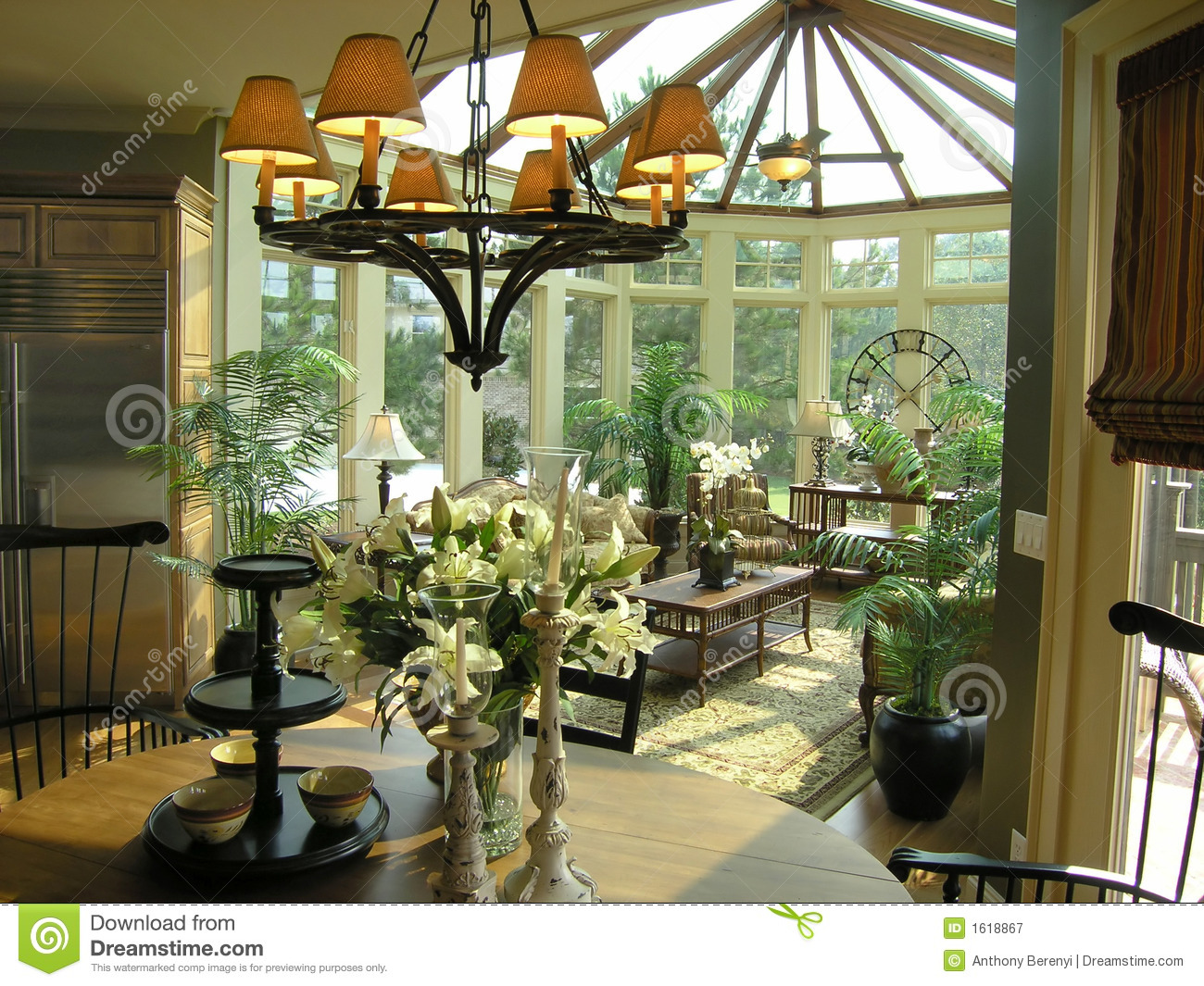 Luxury 21 Sun Room Royalty Free Stock Photography Image