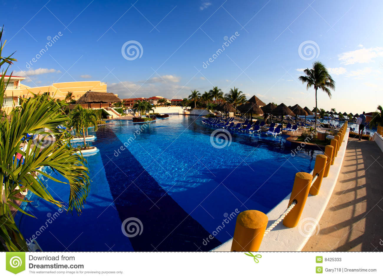 A luxury all inclusive beach resort at morning stock for All inclusive luxury beach resorts