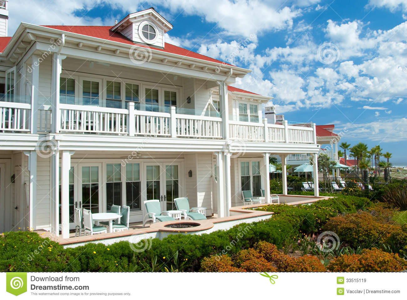 Luxury American Dream Beach Summer House Royalty Free
