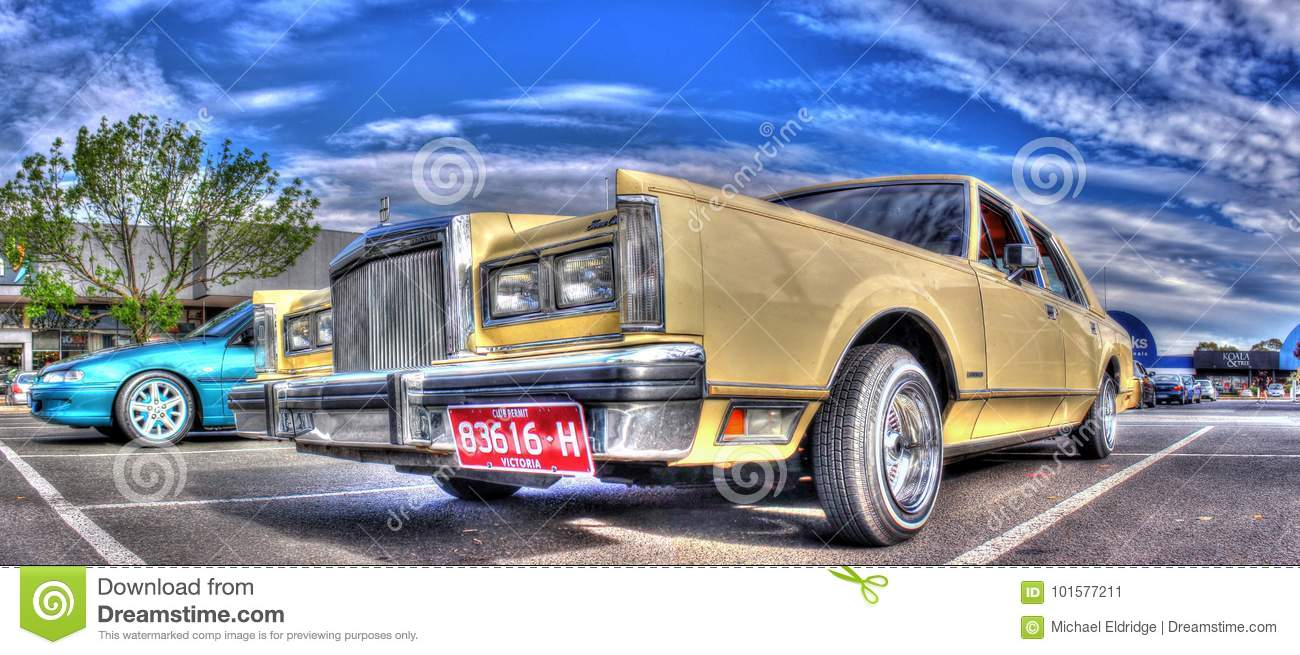 Luxury 1980s American Ford Lincoln Town Car Editorial Photo Image