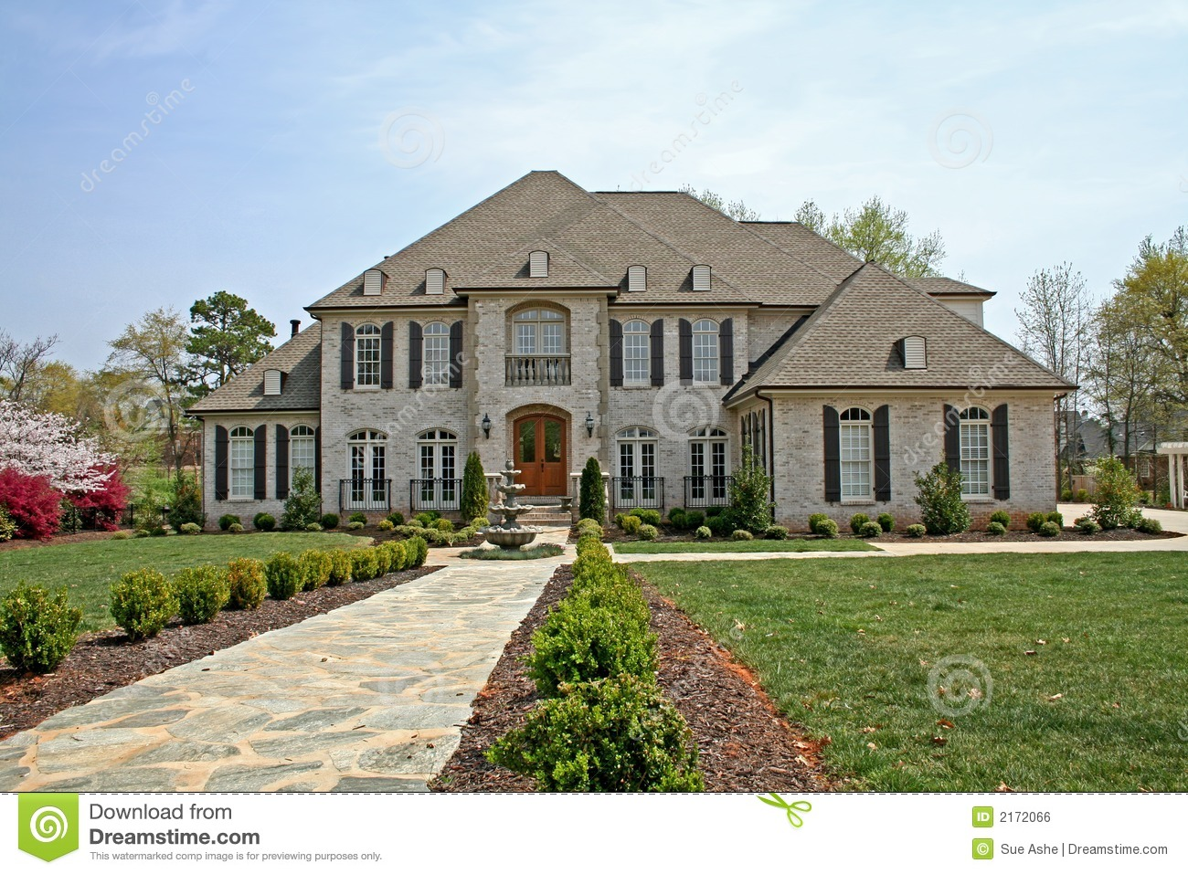 Luxury American House Royalty Free Stock Image Image