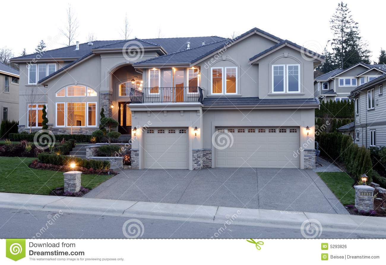 Luxury American House Royalty Free Stock Image - Image: 5293826