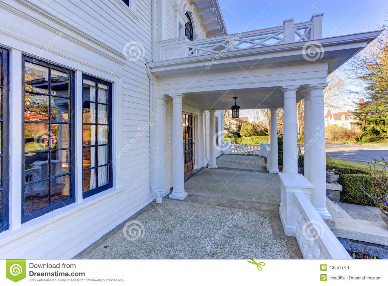 Superior Luxury American House Entrance Porch Stock Photo   Image Of Outdoor,  Window: 43057744