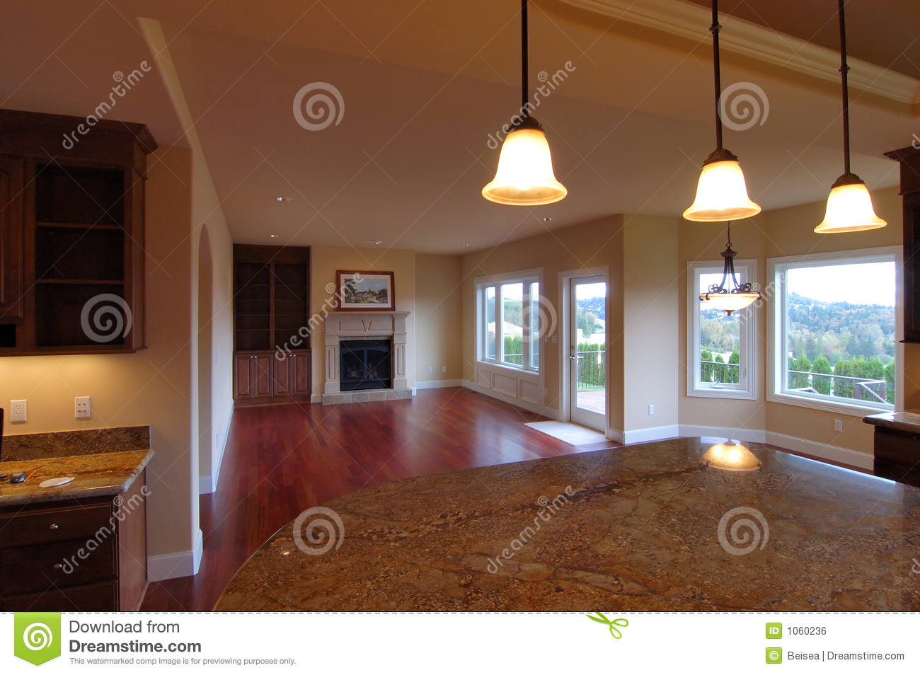 Luxury american house interior royalty free stock image Casas americanas interior