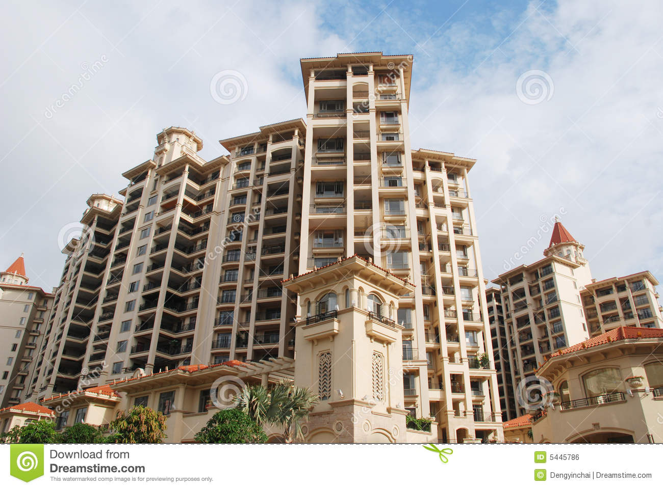 the luxury apartment buildings royalty free stock image
