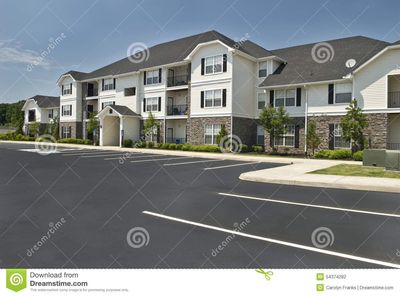 luxury apartment complex revised stock photo image 54374282