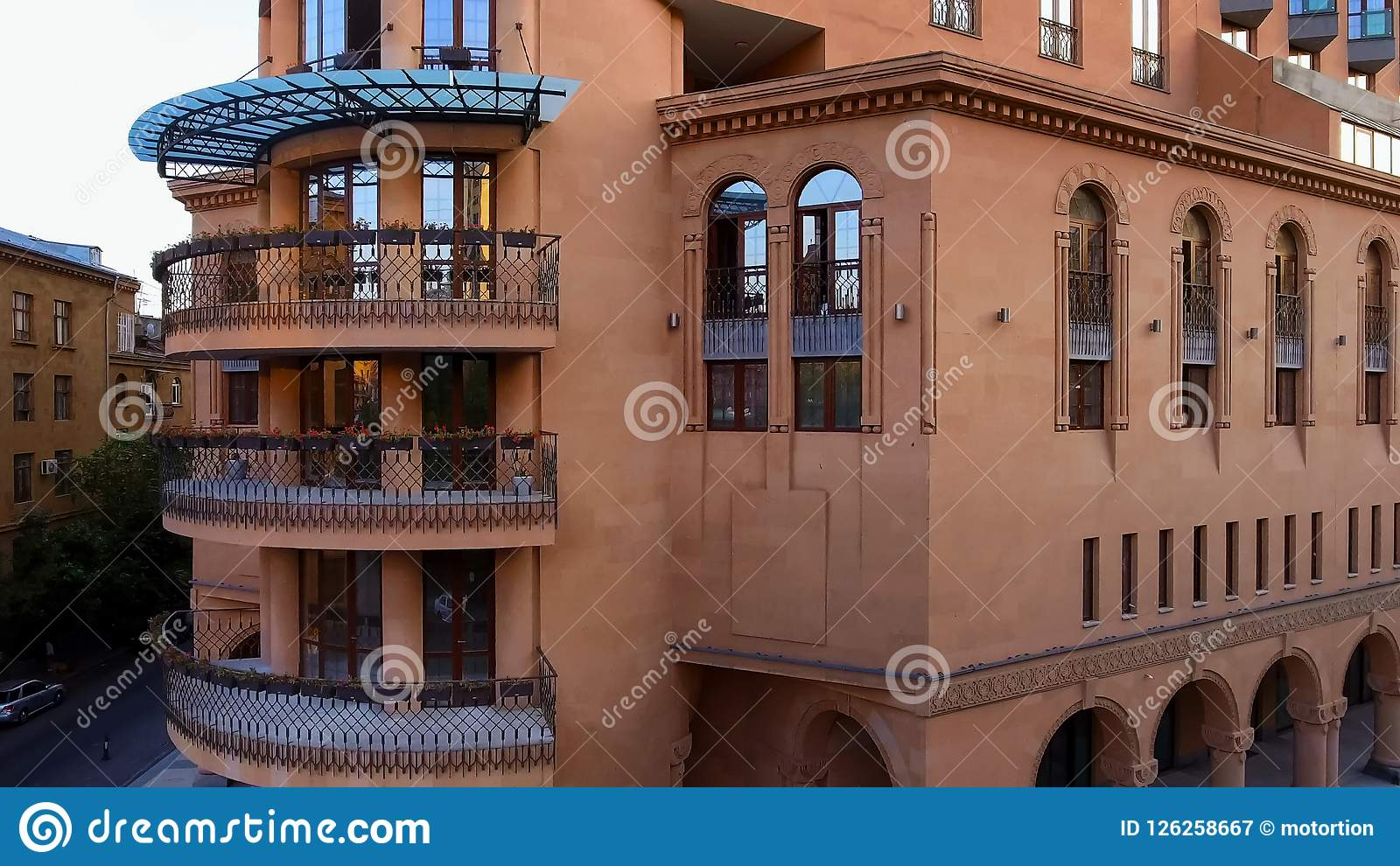 Luxury apartment complex in Yerevan, Armenian real estate for rent, aerial view