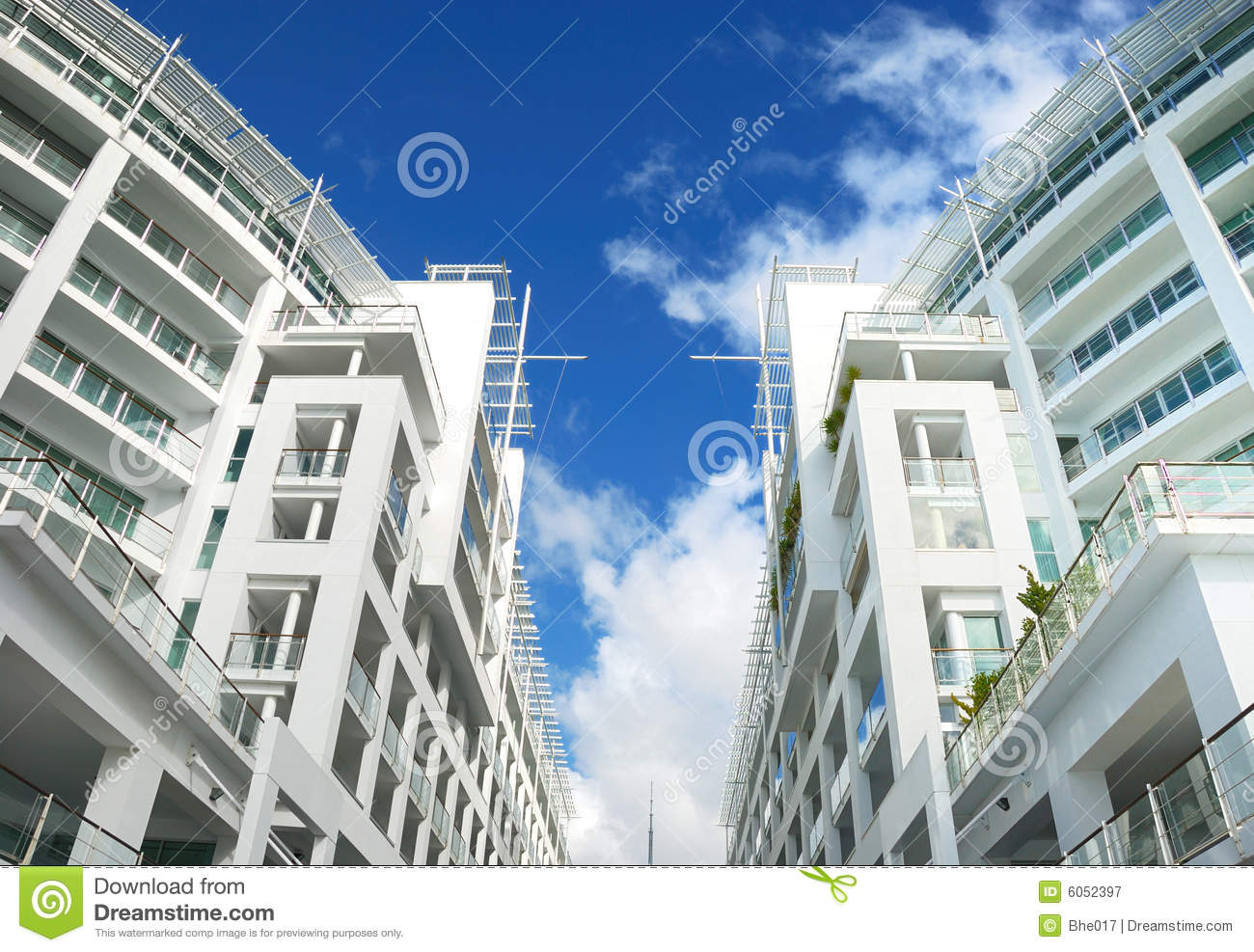 Elegant Luxury Apartment Exterior Royalty Free Stock Photography