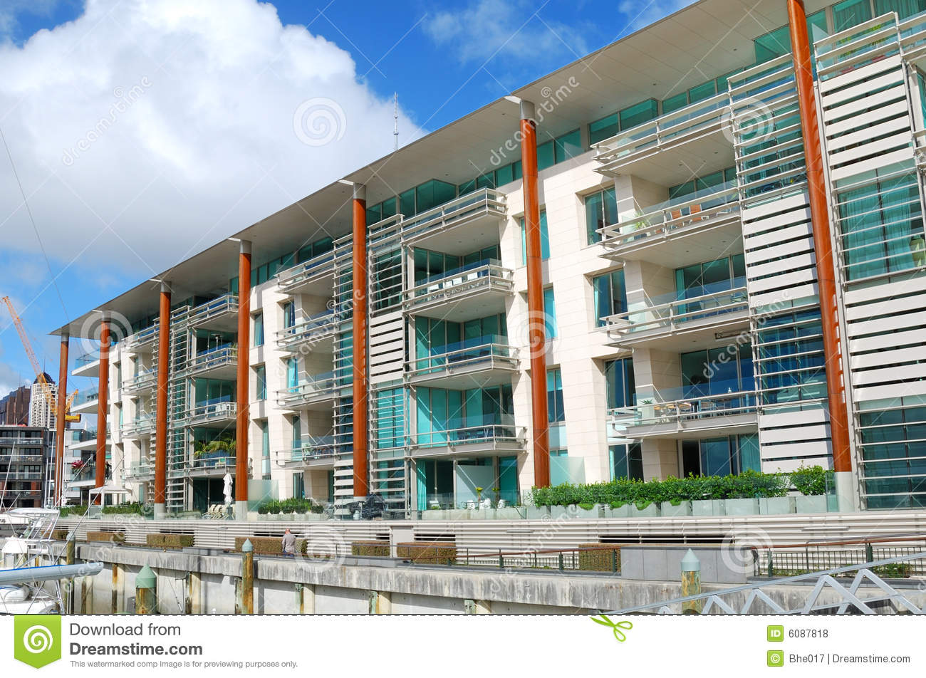 High Quality Exceptional Luxury Apartment Exterior Royalty Free Stock Photos