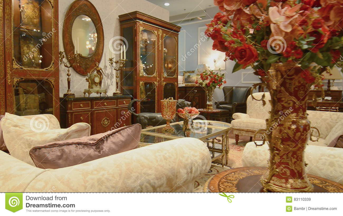 Luxury Apartment Interior. View Of Beautifully Decorated ...