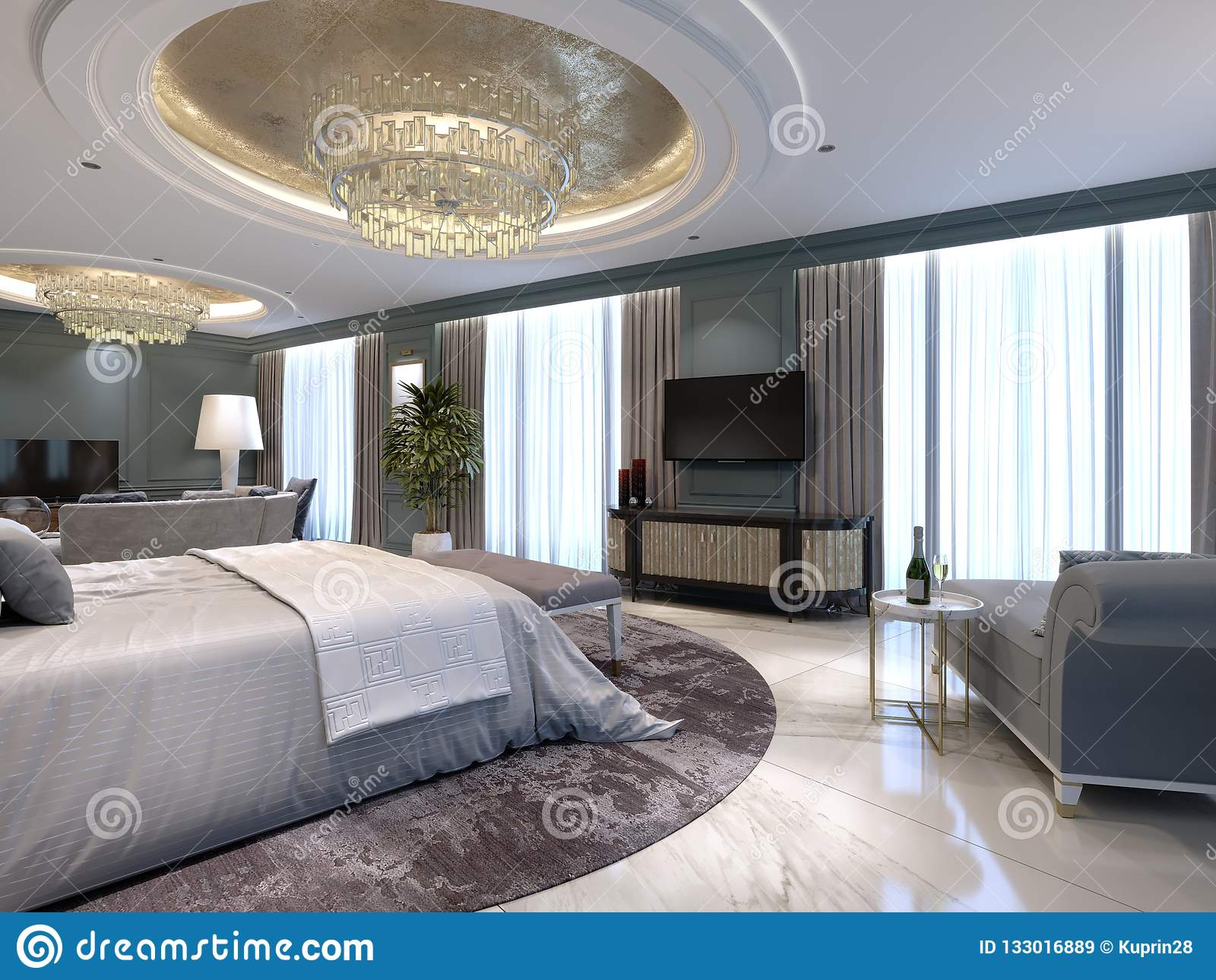 Luxury Apartments With A Bedroom And Living Area In