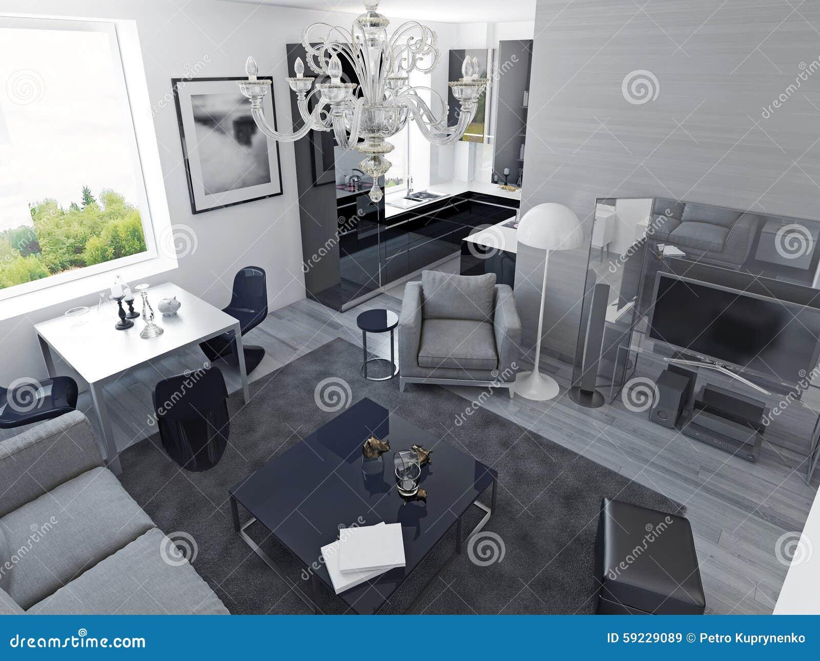 Luxury Apartments Modern Style Stock Illustration ...