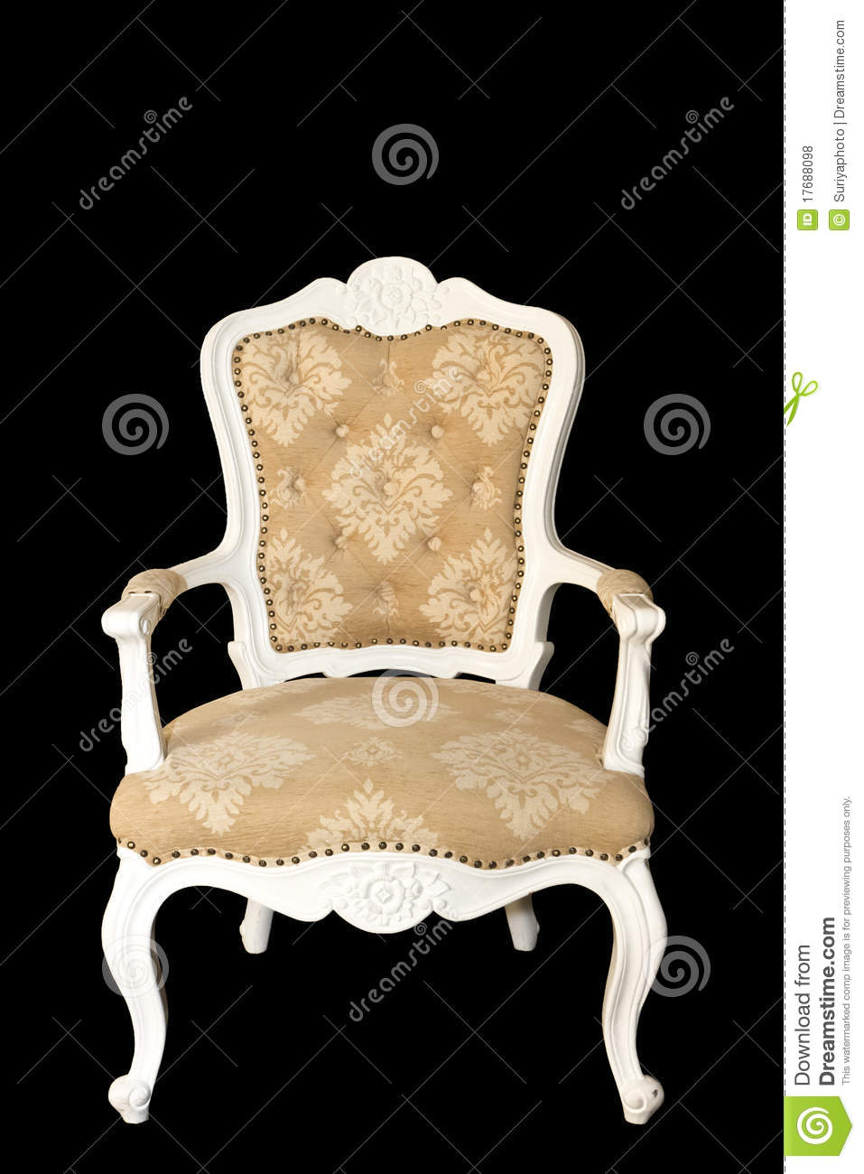 Luxury Arm Chair On Black Background Royalty Free Stock