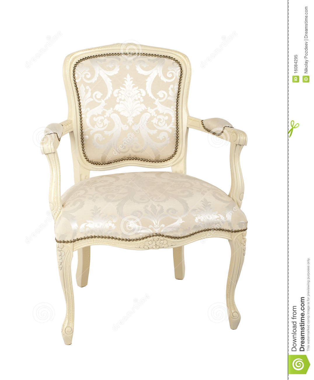 Luxury Armchair Isolated On White Stock Image - Image of ...