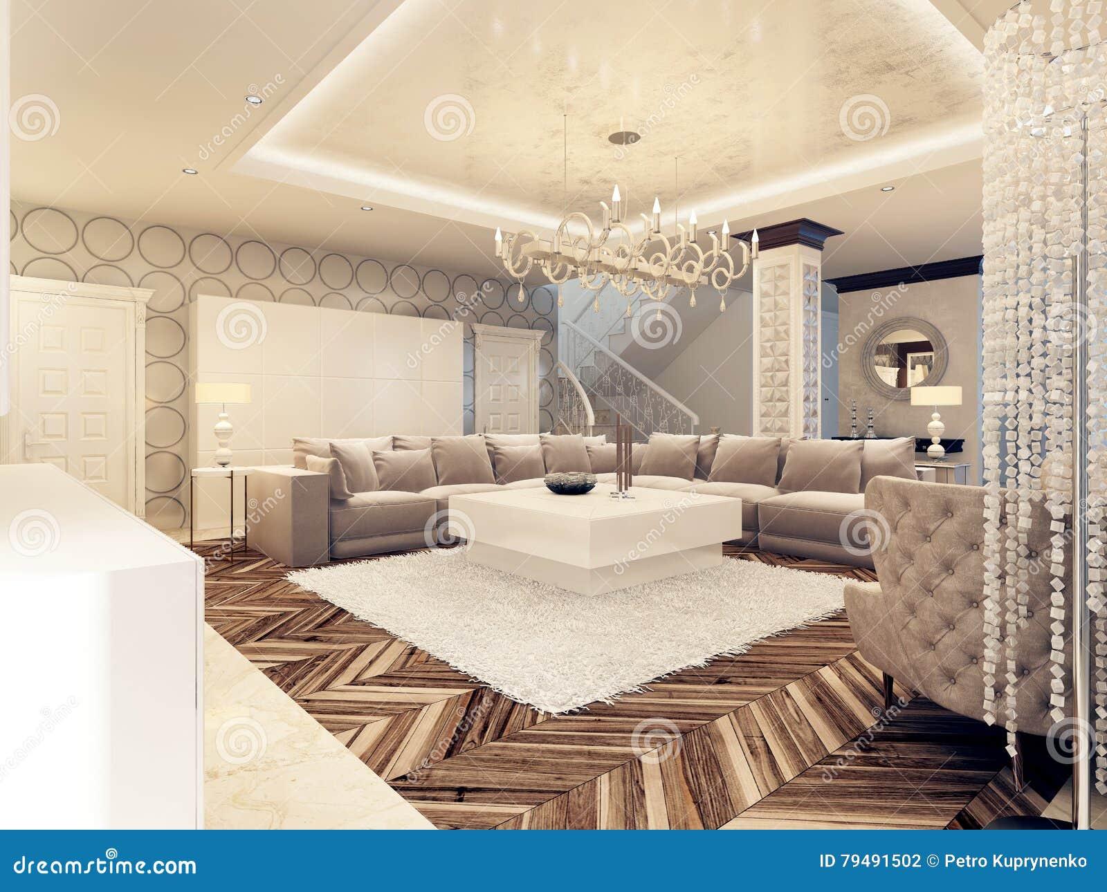 beautiful modern large bright living room royalty free stock image 24268708. Black Bedroom Furniture Sets. Home Design Ideas