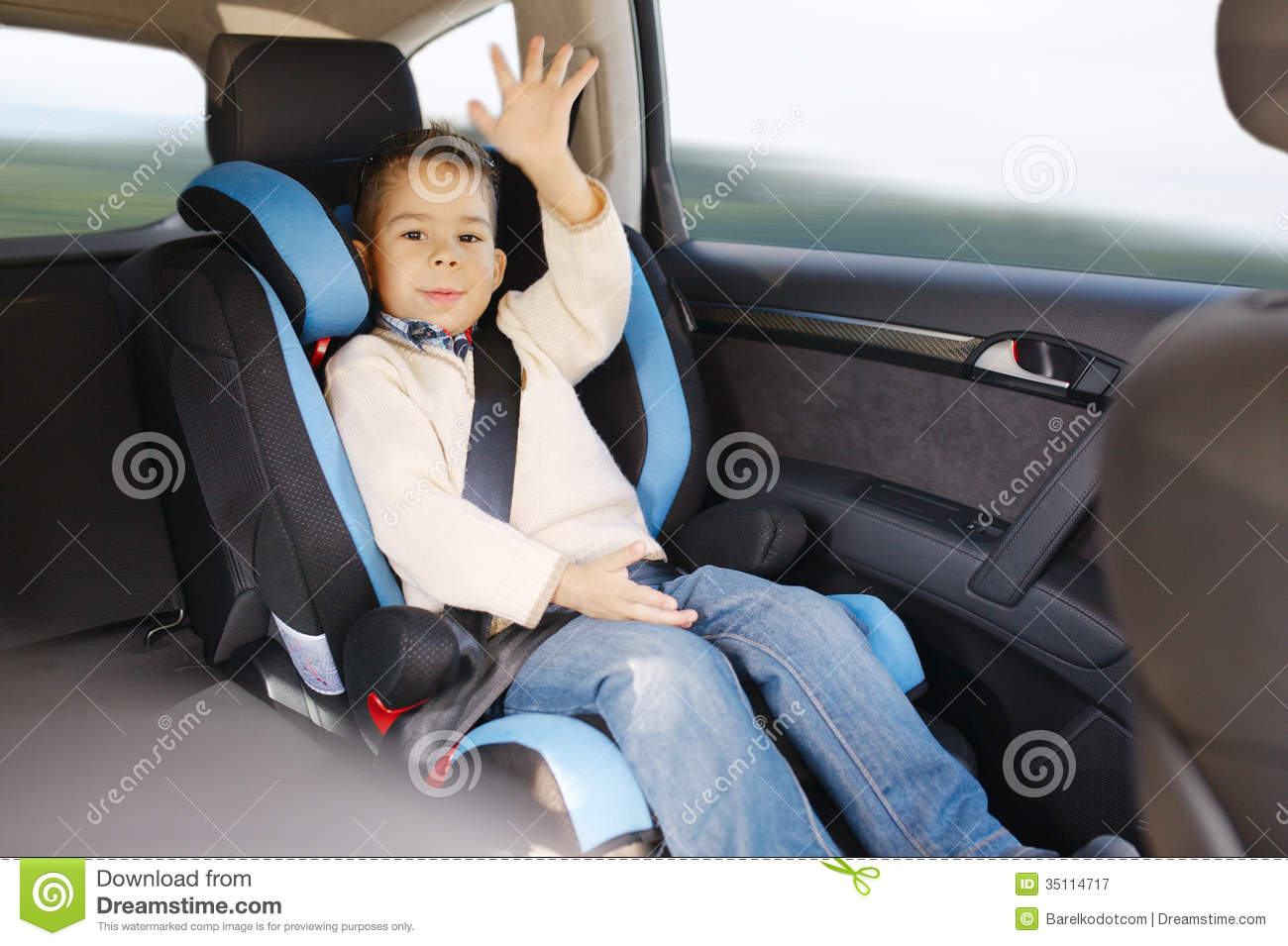 luxury baby car seat for safety royalty free stock photography
