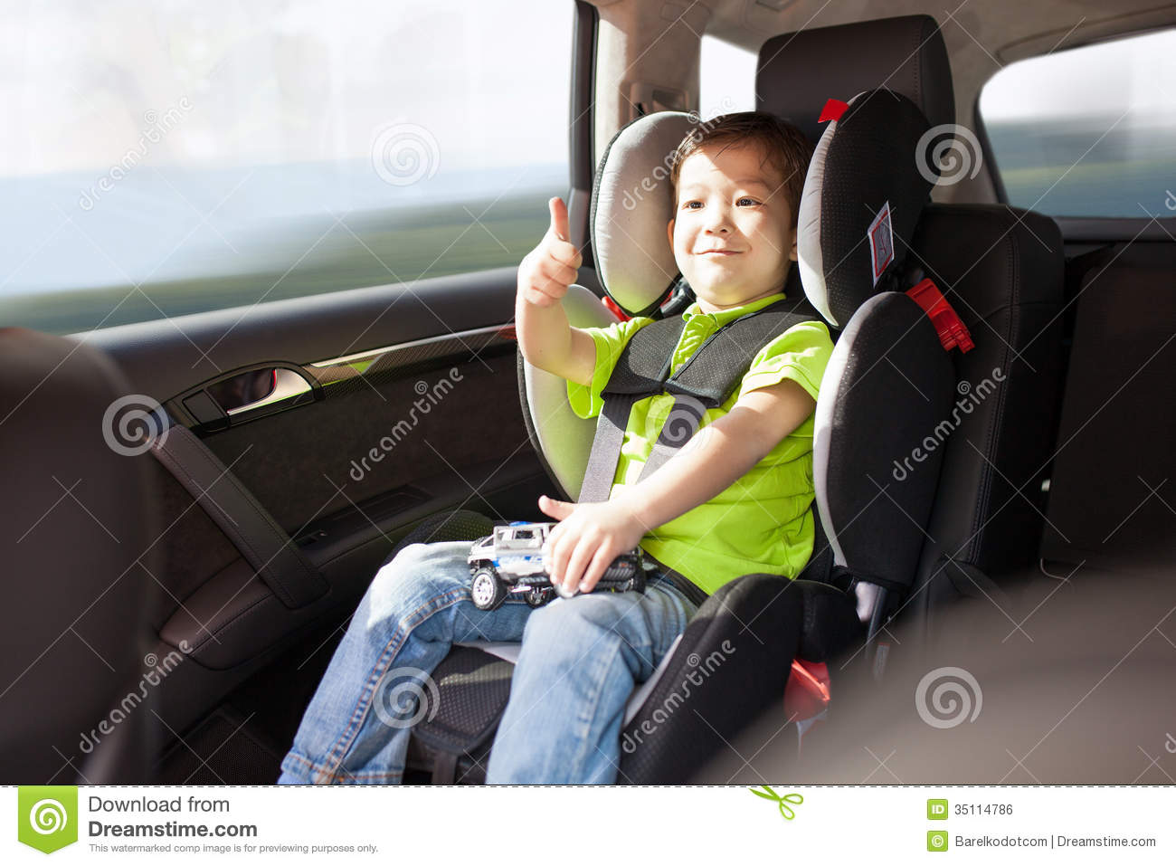 Booster Seat In Car Accident