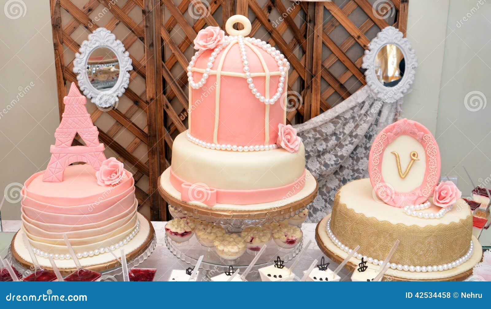 Stupendous Luxury Baby Girl Birthday Cake Stock Photo Image Of Bows Funny Birthday Cards Online Inifodamsfinfo