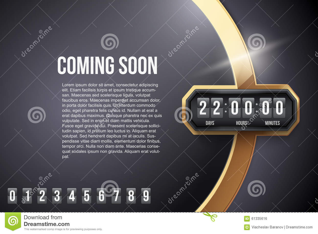 Flip Coming Soon, Countdown Timer Stock Vector - Illustration of ...