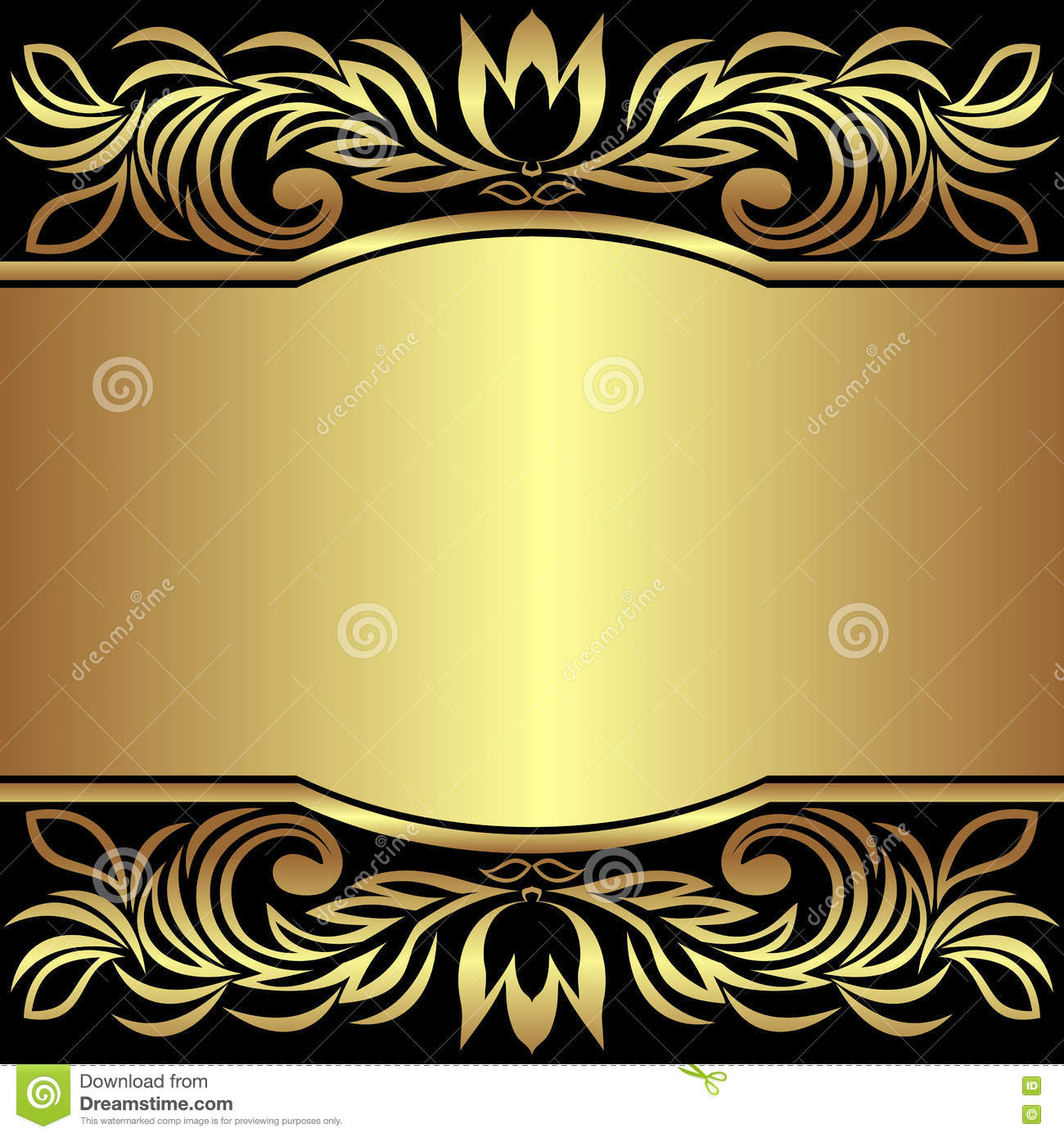 luxury background decorated the golden royal borders