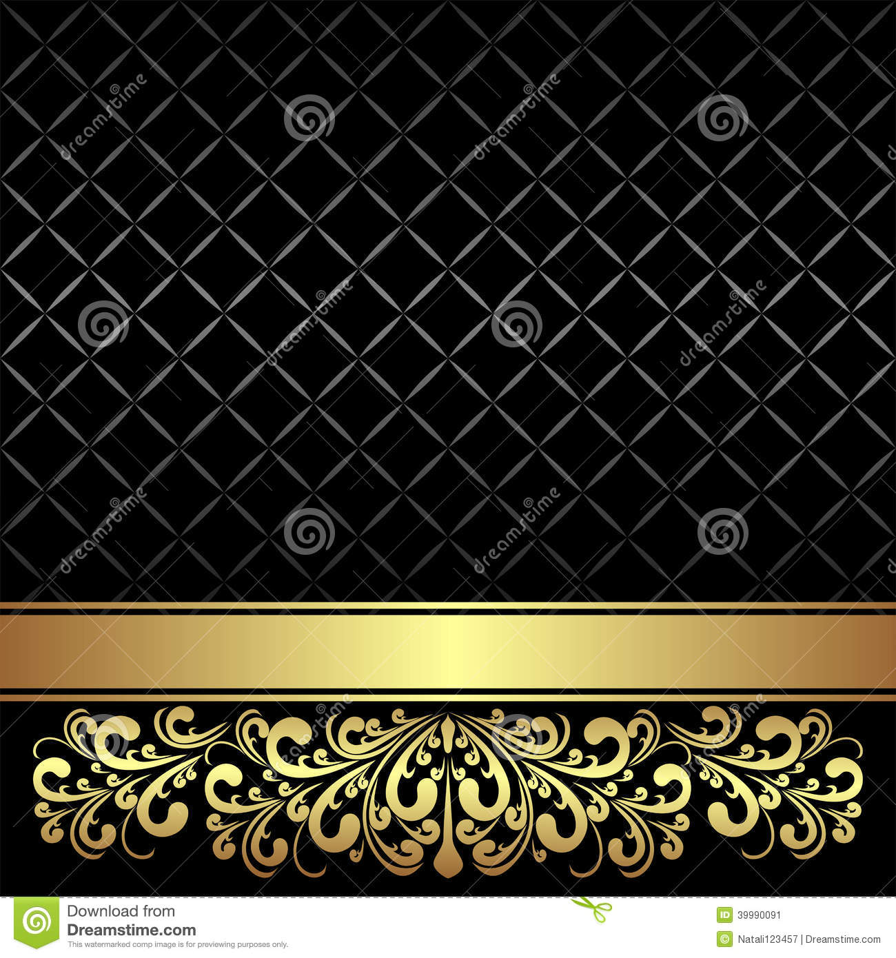 luxury background decorated the vintage ornament and ribbon