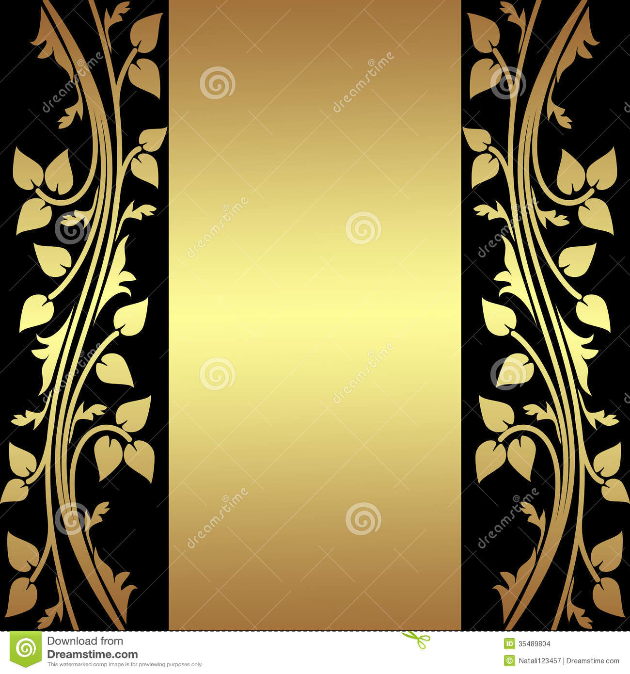 Elegant Background Gold And Black Stock Vector