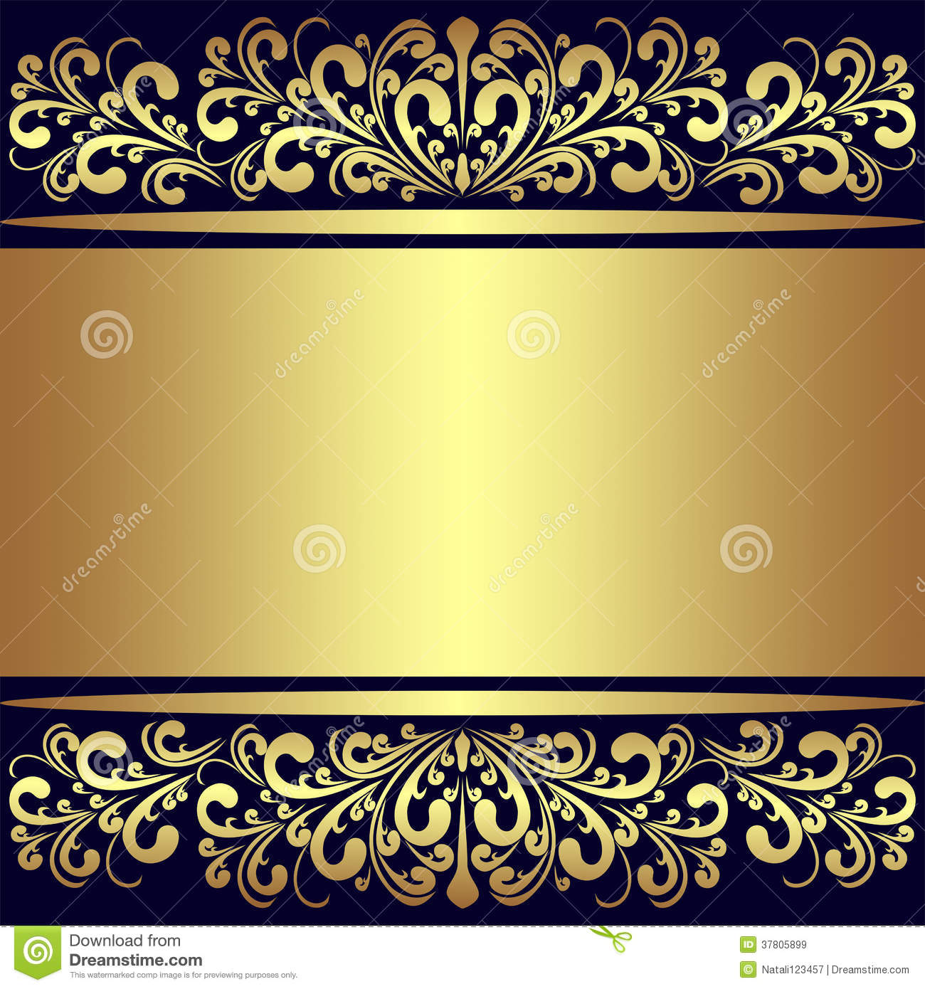 Luxury Background With Golden Royal Borders Cartoon