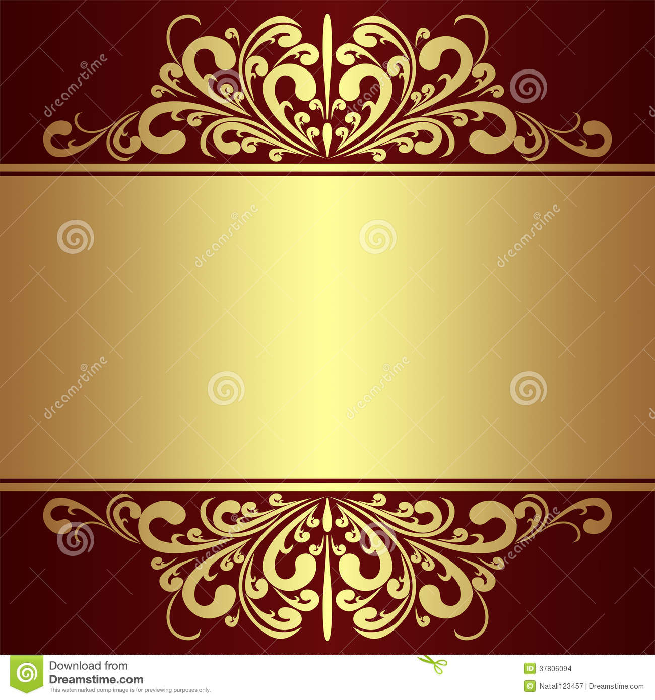 Luxury Background With Golden Royal Borders Stock Images