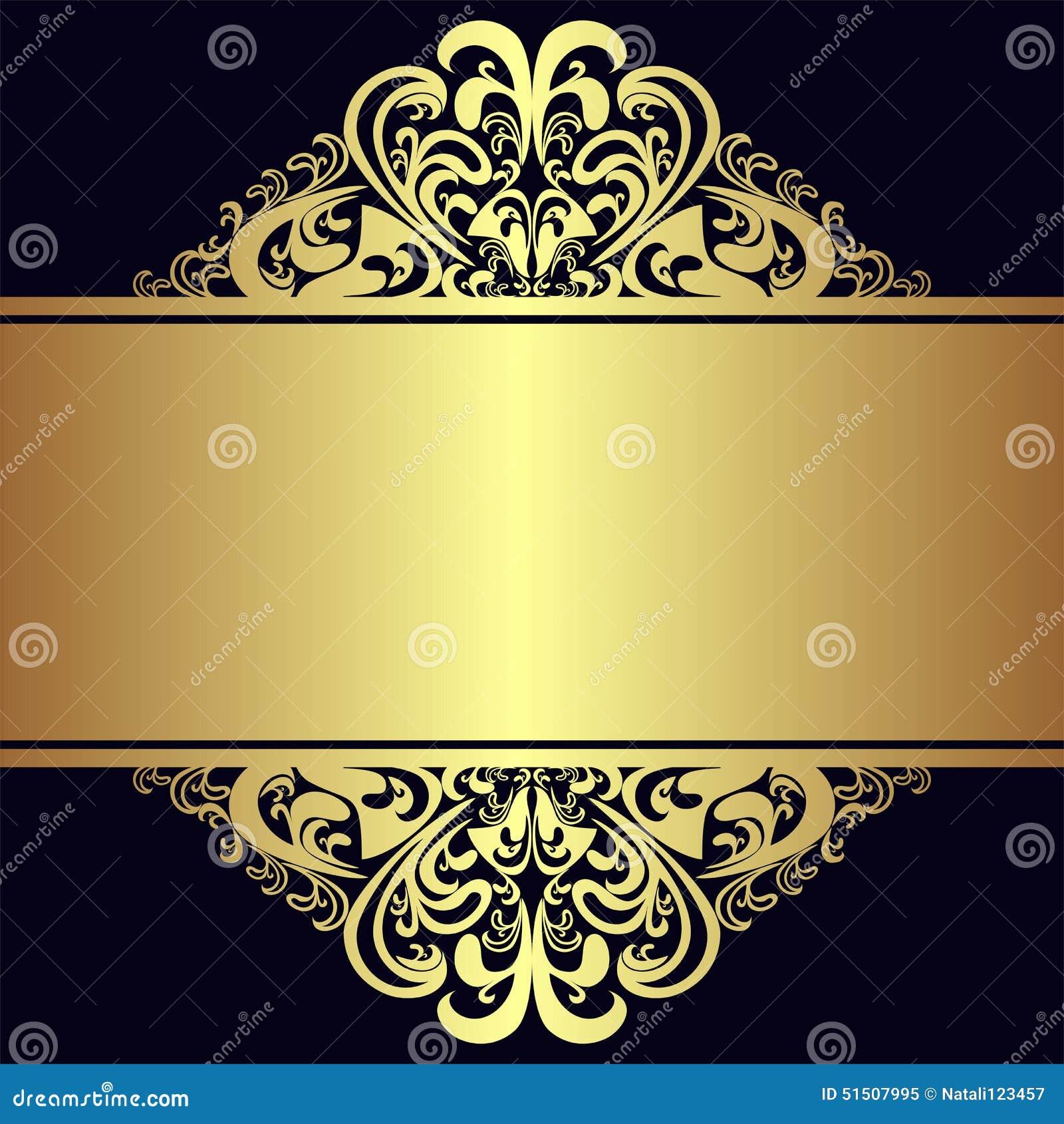 Gold corner swirl