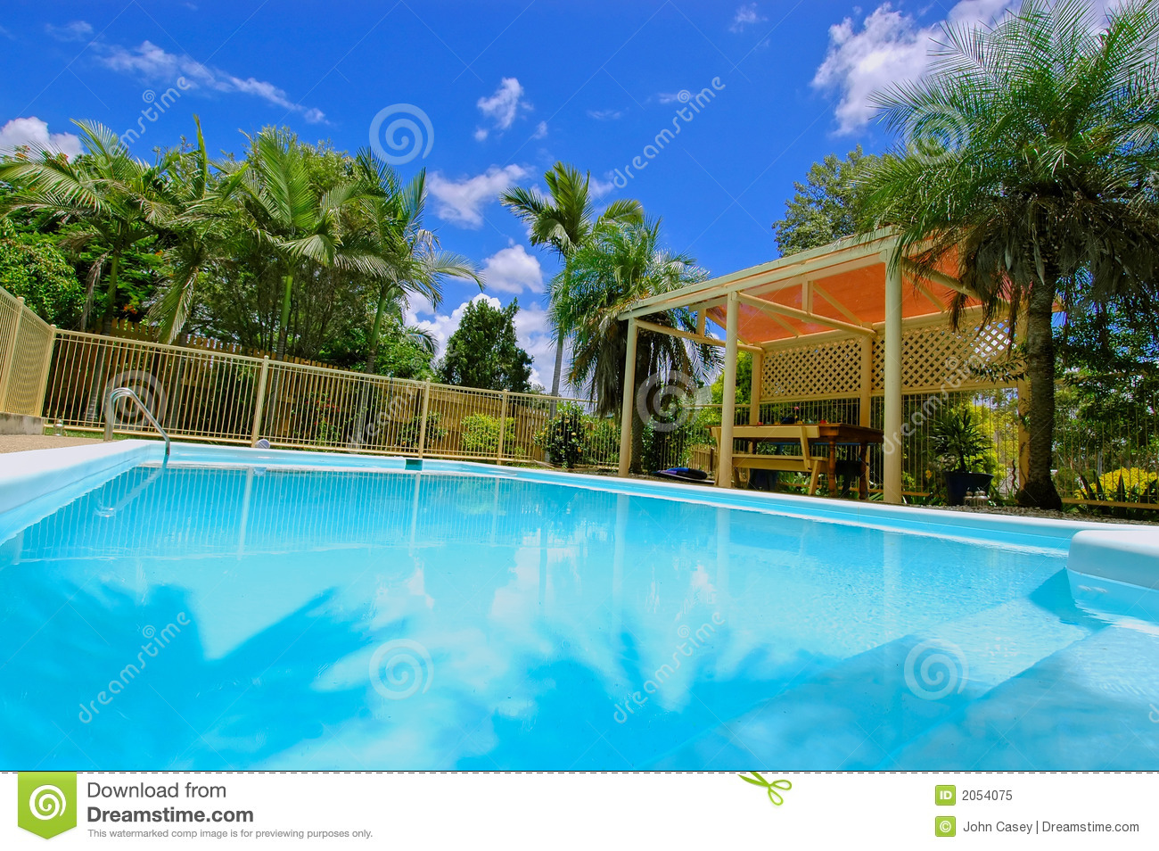 Luxury Backyard Swimming Pool Royalty Free Stock Image