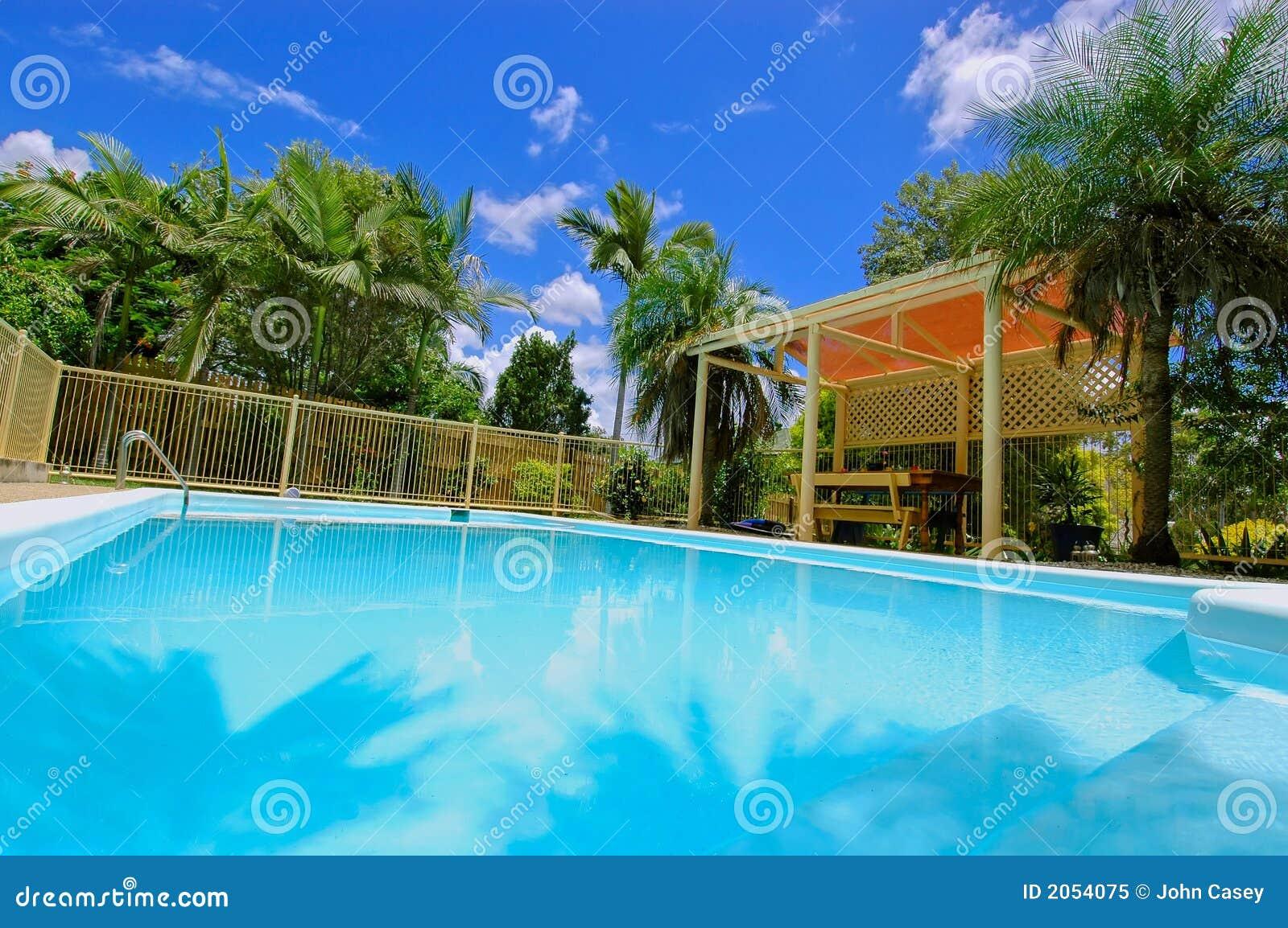 Luxury Backyard Swimming Pool Royalty Free Stock Photo Image