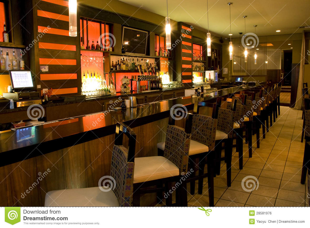 Luxury Bar Restaurant Royalty Free Stock Image Image