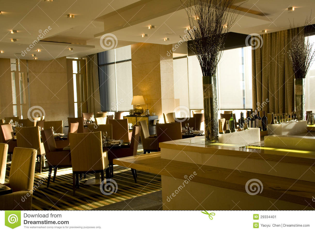 Luxury bar restaurant interiors stock image image 29334401 for Interiores de restaurantes