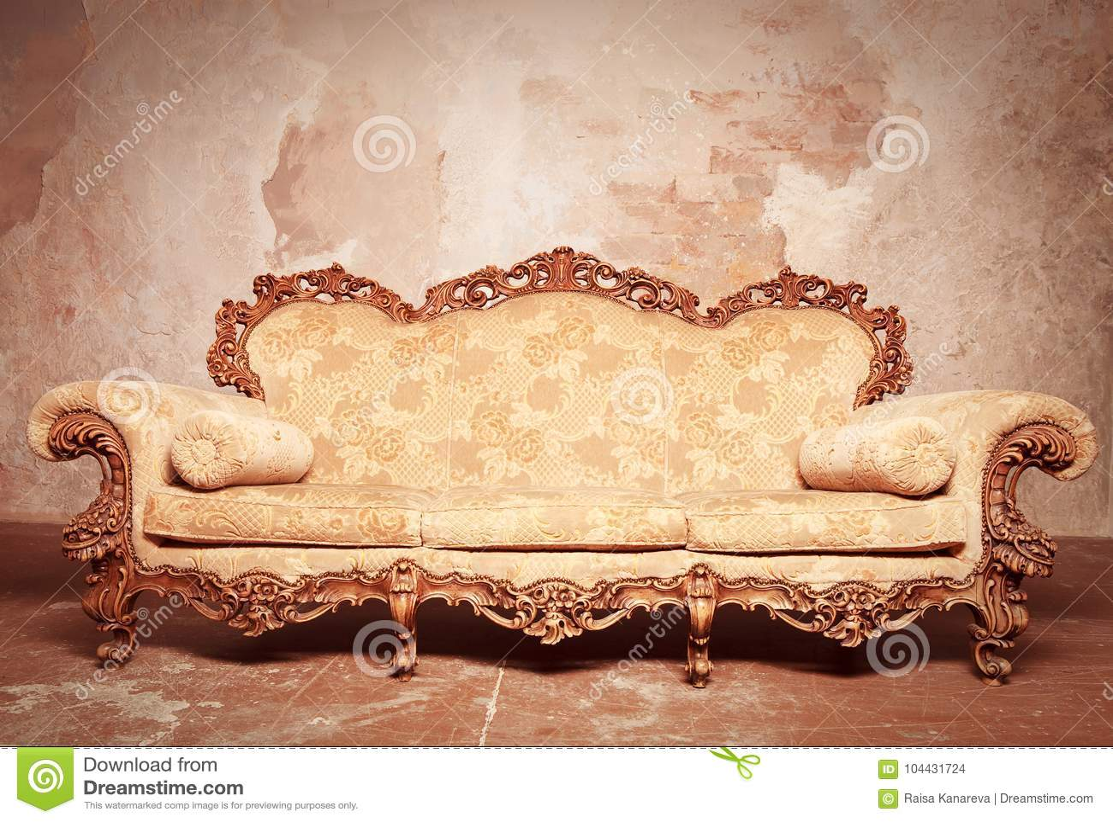Luxury Baroque Sofa Stock Photo Image Of Living Cushion 104431724