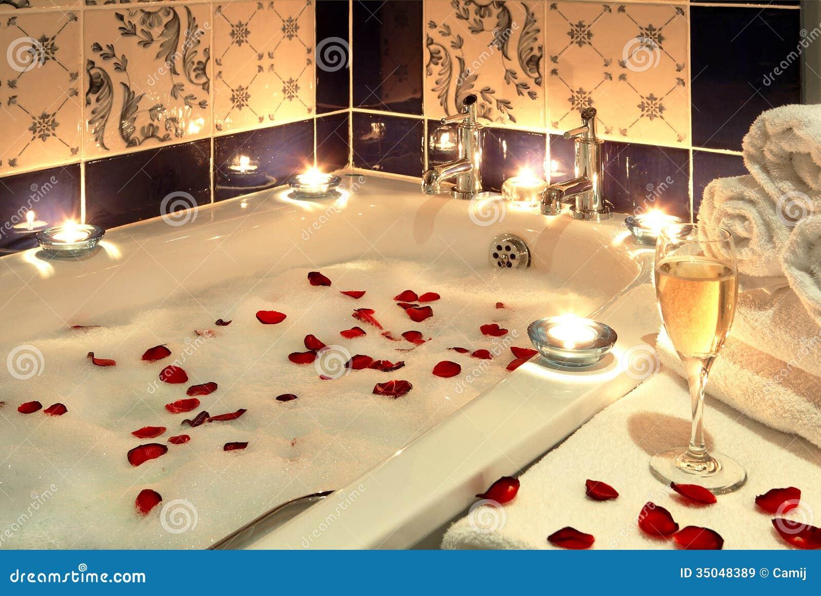 Luxury bath stock image image of bath people aroma - Petale de rose bain ...