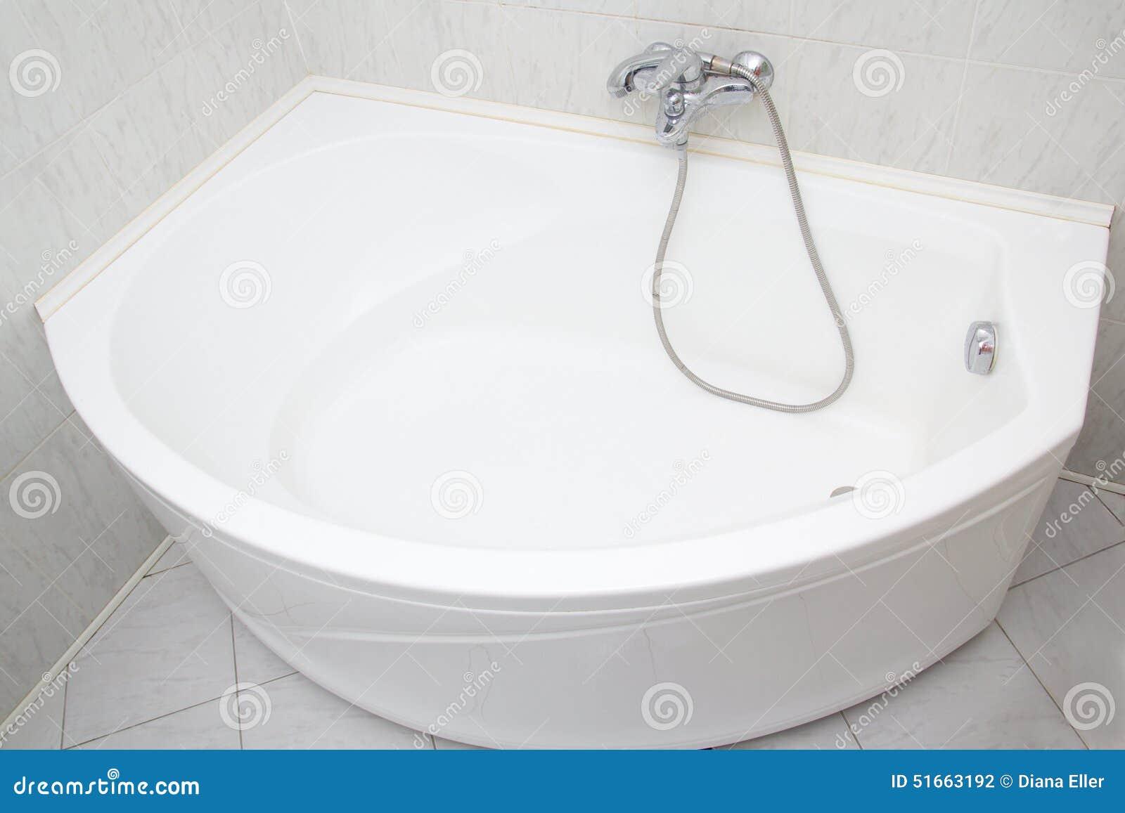 Luxury Bath Tub In White Bathroom Stock Photo - Image of bathtubs ...